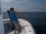 Sore arms with oak island charter fishing