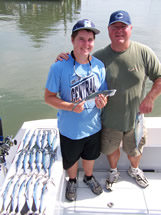 Family time Bald head island spanish mackerel fishing