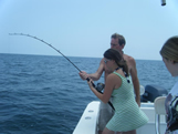women anglers with oak island fishing charters