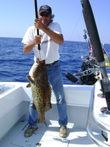 bald head island charter fishing action